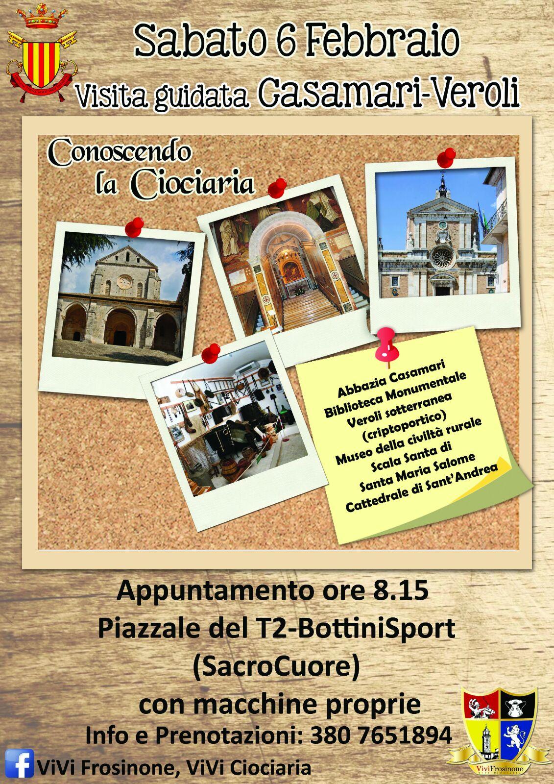 Conoscere la ciociaria nuovo appuntamento di visite for Trento frosinone