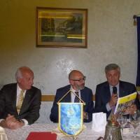 un momento dell'incontro del RC Frosinone con il prof Bartolomucci