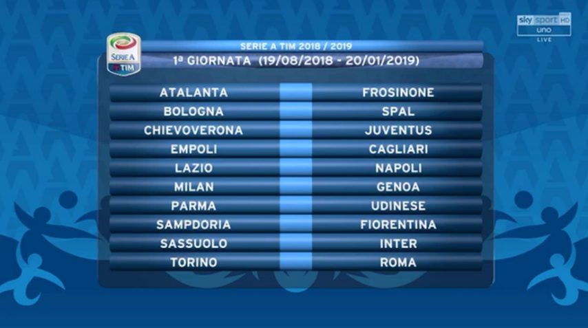 Calendario Serie A Sampdoria.Calcio Il Calendario Del Frosinone Lo Stirpe Esordisce